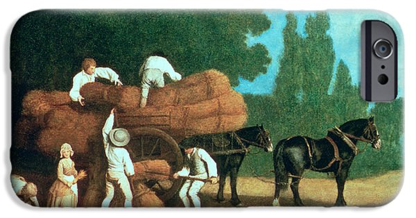 Agriculture iPhone Cases - The Harvest Wagon iPhone Case by George Stubbs