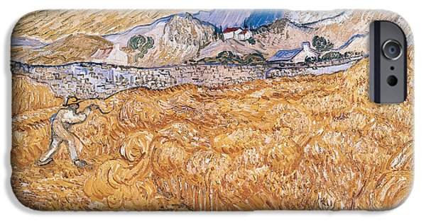 Laborers iPhone Cases - The Harvester iPhone Case by Vincent Van Gogh
