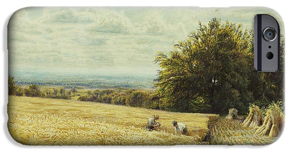 Working Artist iPhone Cases - The Harvesters iPhone Case by Edmund George Warren