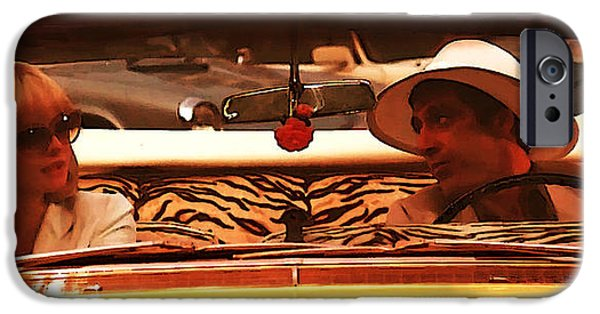 Scarface Digital Art iPhone Cases - The hat iPhone Case by Marcos Jara Puccio