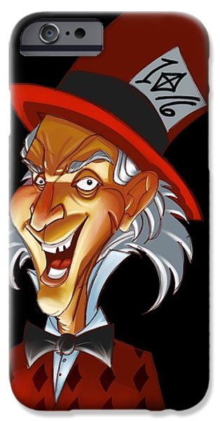 Mad Hatter iPhone Cases - The Hatta  iPhone Case by Anthony Mata
