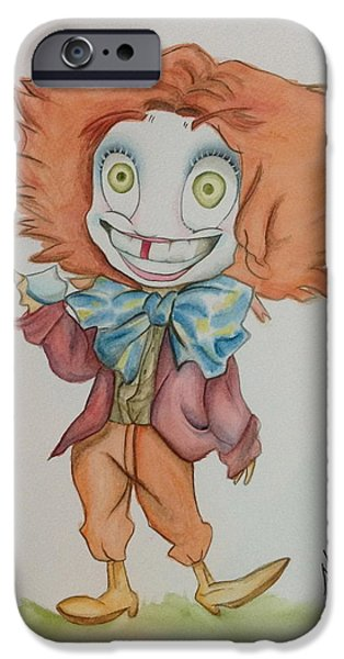 Mad Hatter iPhone Cases - The Hatter is Mad iPhone Case by Nico Bress