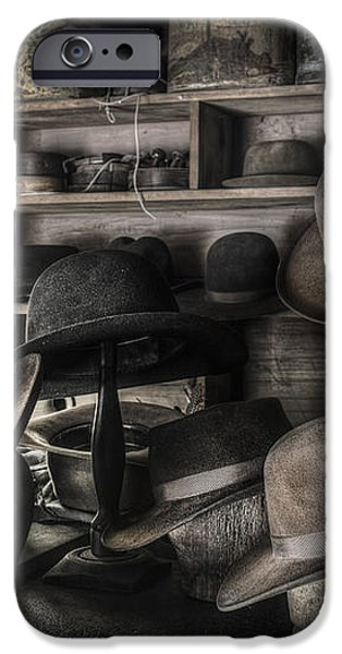 The Hatters Shop - 19th Century Hatter iPhone Case by Gary Heller