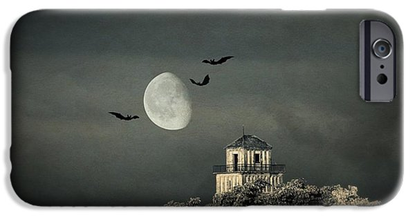 Haunted House Mixed Media iPhone Cases - The haunted house iPhone Case by Heike Hultsch