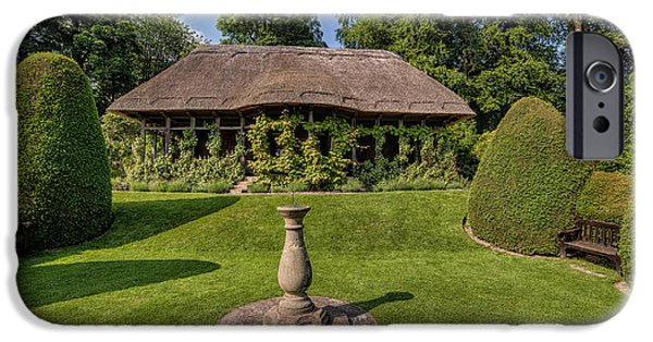 Garden Digital Art iPhone Cases - Thatched Cottage iPhone Case by Adrian Evans