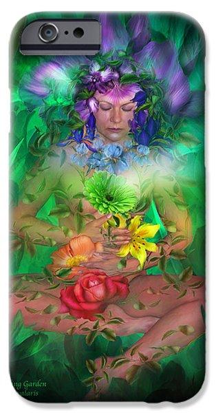 The Art Of Carol Cavalaris iPhone Cases - The Healing Garden iPhone Case by Carol Cavalaris