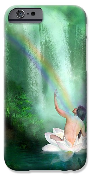 The Healing Place iPhone Case by Carol Cavalaris