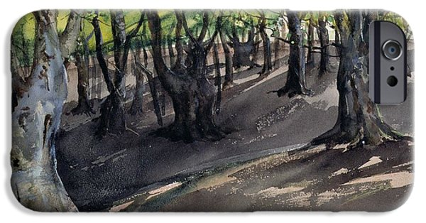 Forest iPhone Cases - The Heart Of Epping Forest, High Beech iPhone Case by Louis Burleigh-Bruhl