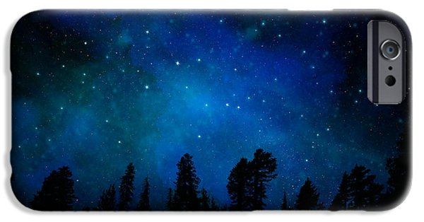 The Heavens Paintings iPhone Cases - The Heavens are Declaring Gods Glory Mural iPhone Case by Frank Wilson