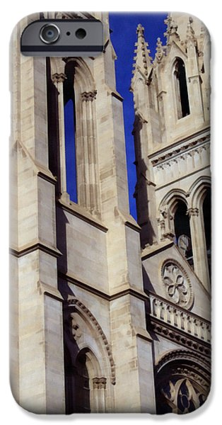 The Church Mixed Media iPhone Cases - The Heights Of The Cathedral Basilica of the Immaculate Conception iPhone Case by Angelina Vick