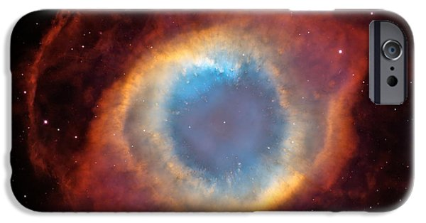 Hubble Telescope Images iPhone Cases - The Helix Nebula iPhone Case by Eric Glaser