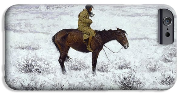 The Horse iPhone Cases - The Herd Boy iPhone Case by Fredrick Remington