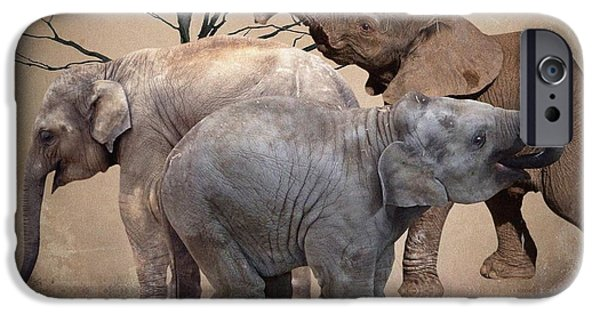 Elephant iPhone Cases - The Herd iPhone Case by Sharon Lisa Clarke