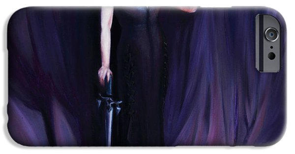 Spiritual Portrait Of Woman iPhone Cases - The Heretic iPhone Case by Shelley  Irish