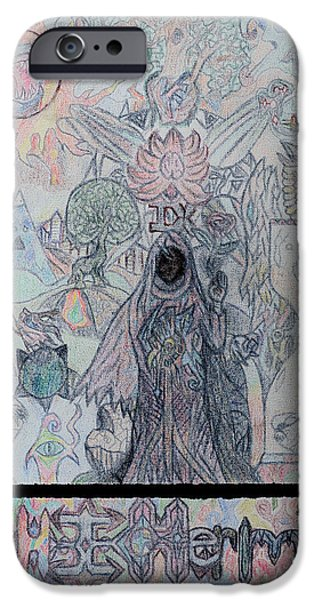 Women Together Mixed Media iPhone Cases - The Hermit iPhone Case by Dylan Nelson