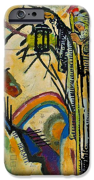 Esoteric iPhone Cases - The Hermit Tarot Card iPhone Case by Corporate Art Task Force