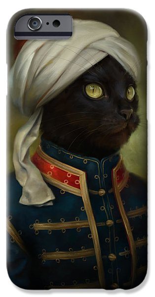 Costume iPhone Cases - The Hermitage Court Moor Cat iPhone Case by Eldar Zakirov