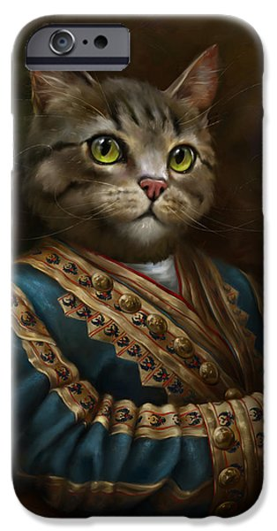 Cat Reflection iPhone Cases - The Hermitage Court Outrunner Cat iPhone Case by Eldar Zakirov