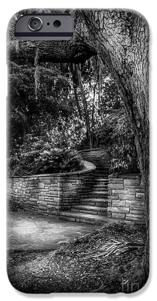 Stone Steps iPhone Cases - The Hidden Steps 1 iPhone Case by Marvin Spates
