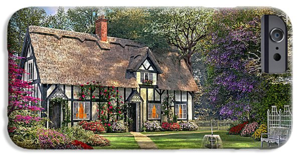 Pathway Digital iPhone Cases - The Hideaway Cottage iPhone Case by Dominic Davison