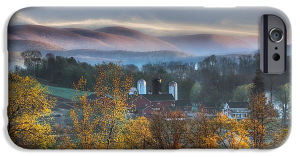 Connecticut Farm iPhone Cases - The Hills iPhone Case by Bill  Wakeley