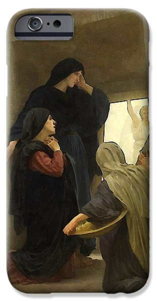 Mother Mary Digital Art iPhone Cases - The Holy Women at the Tomb iPhone Case by William Bouguereau