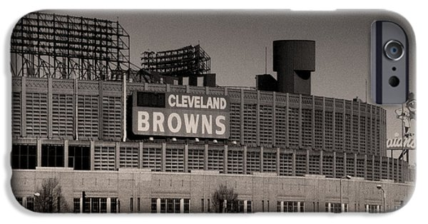Cleveland iPhone Cases - The Hometeams iPhone Case by Kenneth Krolikowski