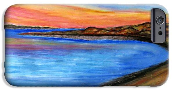 Sand Dunes Pastels iPhone Cases - The Horizon iPhone Case by Daniel Dubinsky