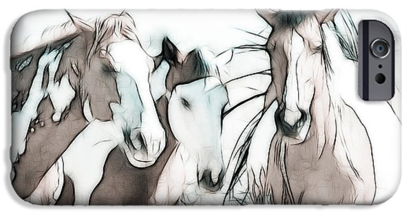 American Quarter Horse iPhone Cases - The Horse Club iPhone Case by Athena Mckinzie