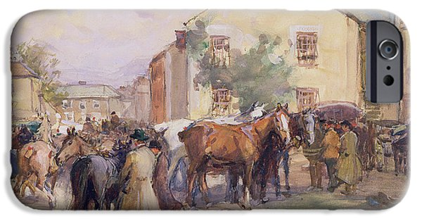 The Horse iPhone Cases - The Horse Fair  iPhone Case by John Atkinson