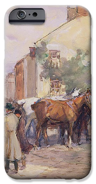 The Horse Fair  iPhone Case by John Atkinson