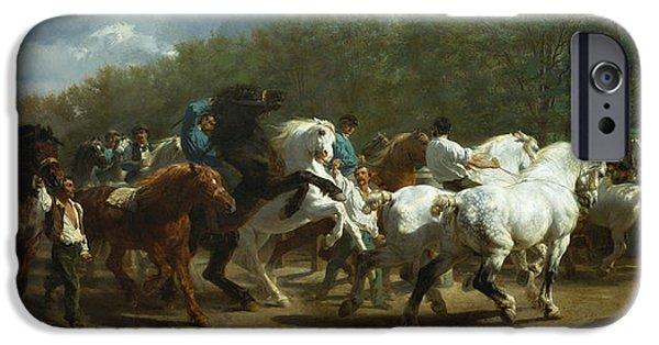 The Horse iPhone Cases - The Horse Fair iPhone Case by Rosa Bonheur