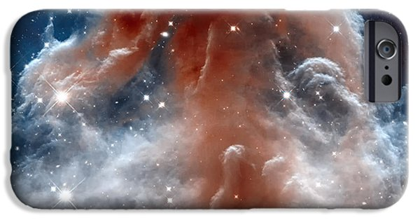Jet Star iPhone Cases - The horsehead Nebula iPhone Case by Eti Reid