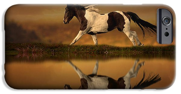 Horse Digital Art iPhone Cases - The Horses Journey iPhone Case by Jennifer Woodward