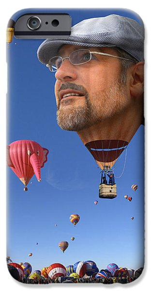 Hot Air Balloon Digital iPhone Cases - The Hot Air Surprise iPhone Case by Mike McGlothlen