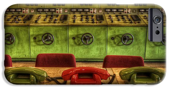 Electrical Equipment Digital Art iPhone Cases - The hot line iPhone Case by Nathan Wright