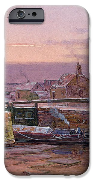 The House by the Canal iPhone Case by Charles Brooke Branwhite