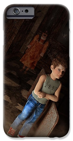 The House of Anguish iPhone Case by Liam Liberty