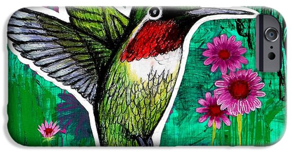 Genevieve Esson iPhone Cases - The Hummingbird iPhone Case by Genevieve Esson