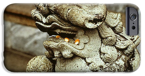 Buddhist iPhone Cases - The Hungry Dragon iPhone Case by Carl Purcell