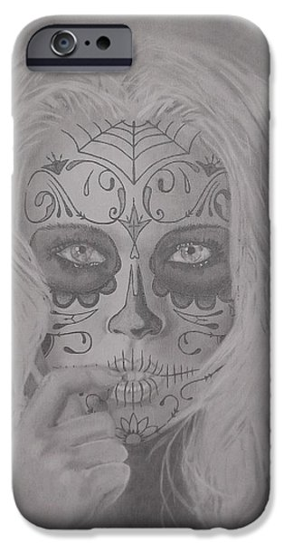 Mix Medium Drawings iPhone Cases - The Hunt iPhone Case by Asev One