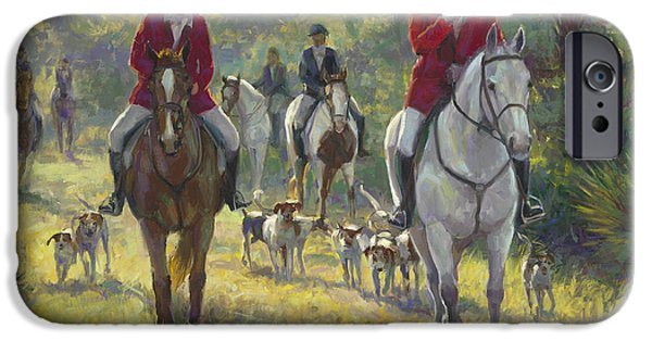 Horse Sport iPhone Cases - The Hunt iPhone Case by Laurie Hein