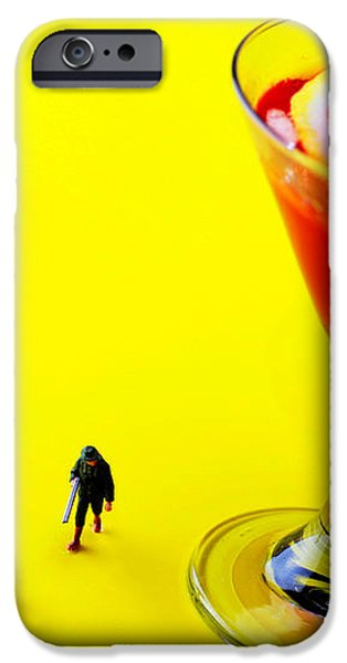 The hunting little people big worlds iPhone Case by Paul Ge