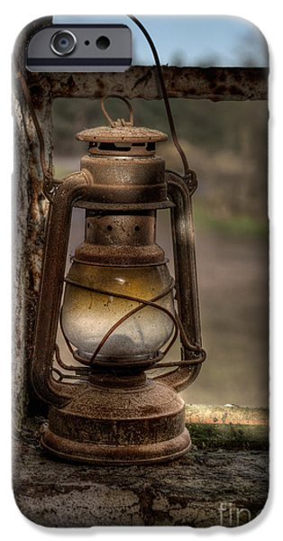 Hurricane Lamp iPhone Cases - The Hurricane Lamp iPhone Case by Ann Garrett