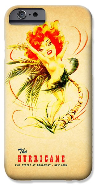 Menu iPhone Cases - The Hurricane New York 1940s iPhone Case by Mark Rogan