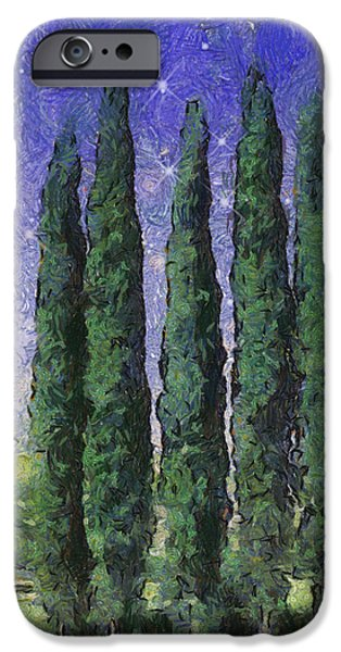 The Hushed Poetry of Trees in the Night iPhone Case by Wendy J St Christopher