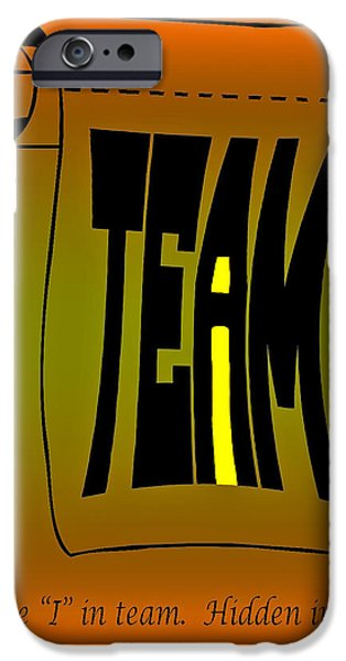 The i in Team iPhone Case by Steve Harrington