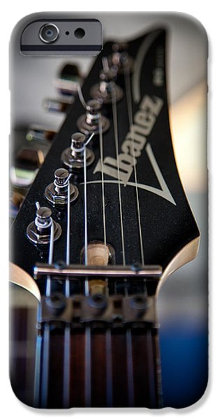 The Kingpins iPhone Cases - The Ibanez Guitar iPhone Case by David Patterson