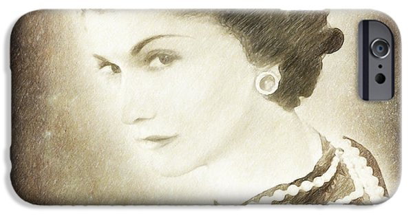 Mood Paintings iPhone Cases - The Icon of Elegance iPhone Case by Angela A Stanton
