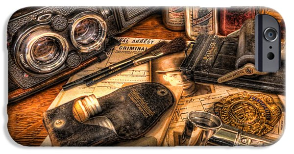 Law Enforcement Art iPhone Cases - The Identification Bureau - Police Officer iPhone Case by Lee Dos Santos